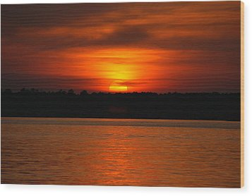 Sunset Over Lake Martin Wood Print
