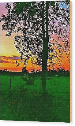 Wood Print featuring the photograph Sunset Over M-33 by Daniel Thompson
