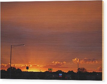 Wood Print featuring the photograph Sunset Over Madison by Ramona Whiteaker