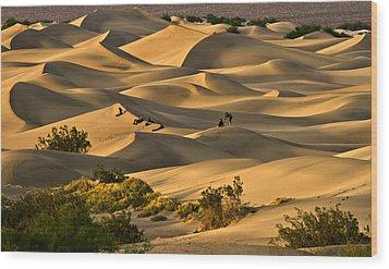 Sunset Over Mesquite Flat Dunes Wood Print