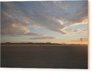 Wood Print featuring the photograph Sunset Over Namibia by Riana Van Staden
