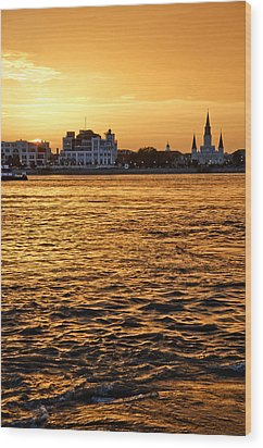Sunset Over New Orleans Wood Print by Patricia Sanders