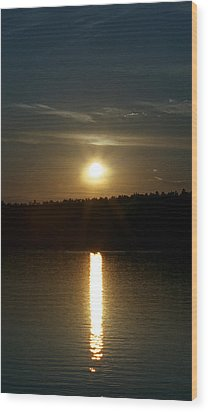 Wood Print featuring the photograph Sunset Over Pickerel River Sun 91 by G L Sarti
