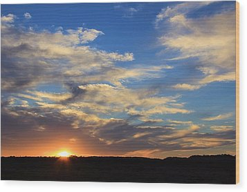 Sunset Over Texas Wood Print