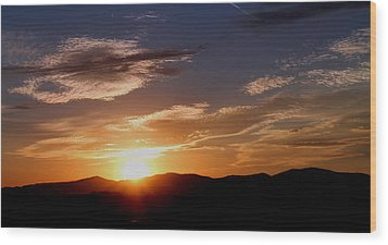 Wood Print featuring the photograph Sunset Over The Blue Ridge by Candice Trimble