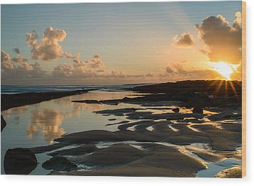 Sunset Over The Ocean IIi Wood Print by Marco Oliveira