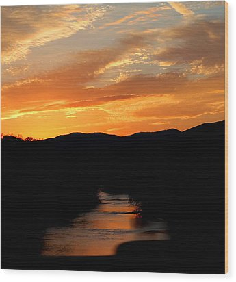 Wood Print featuring the photograph Sunset Over The Shenandoah by Candice Trimble