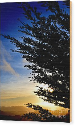 Sunset Overlooking Pacifica Ca Iv Wood Print by Jim Fitzpatrick