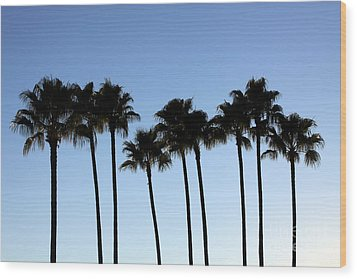 Wood Print featuring the photograph Sunset Palms by Chris Thomas