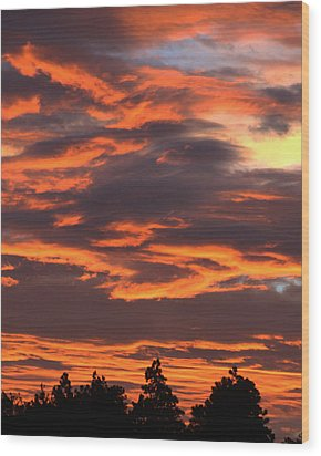 Sunset Wood Print by Pamela Walton