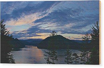 Sunset Pano - Watauga Lake Wood Print by Tom Culver