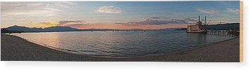 Wood Print featuring the photograph Sunset Panorama At Lake Tahoe California by Paul Topp