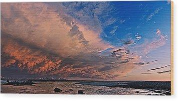 Sunset Panorama Wood Print