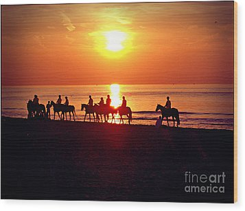 Sunset Past Time Wood Print by Nina Ficur Feenan