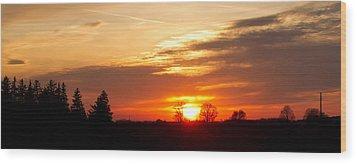 Sunset  Wood Print by Paulina Szajek
