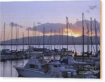 Wood Print featuring the photograph Sunset Pearl Harbor by Gina Savage