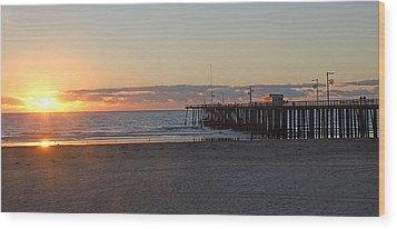 Sunset Pismo Beach Pier Wood Print