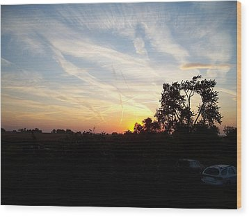 Sunset Wood Print by Randy Stamper