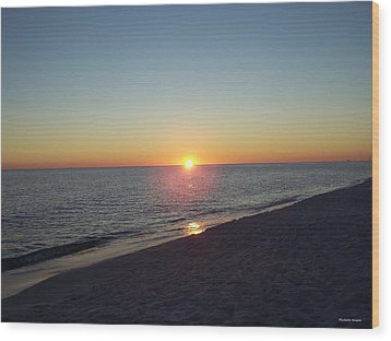 Wood Print featuring the photograph Sunset Reflection by Michele Kaiser
