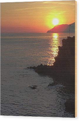 Wood Print featuring the photograph Sunset Reflection by Natalie Ortiz
