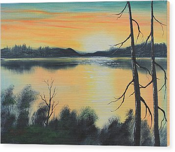 Sunset Wood Print by Remegio Onia