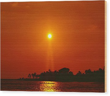 Sunset Ride Wood Print by Athala Carole Bruckner