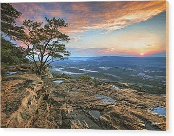 Sunset Rock Lookout Mountain  Wood Print