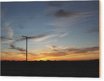 Wood Print featuring the photograph Sunset by Ryan Crouse