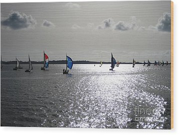 Wood Print featuring the photograph Sunset Sail by Judy Palkimas