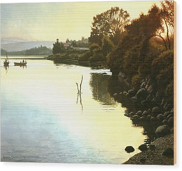 Sunset  Sea Of Galilee  Israel Wood Print by Graham Braddock