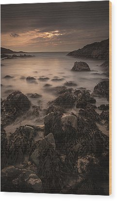 Sunset Seascape Wood Print by Andy Astbury