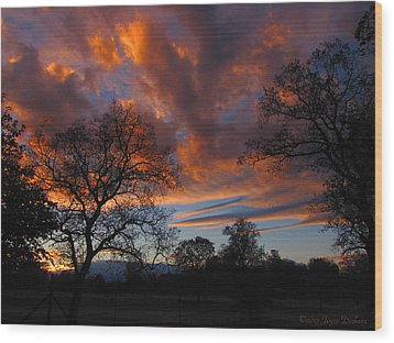 Sunset September 24 2013 Wood Print by Joyce Dickens