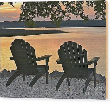 Wood Print featuring the photograph Sunset Serenity by Carol  Bradley