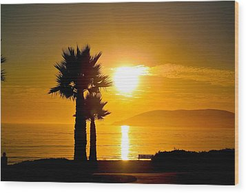 Sunset Serenity  Wood Print by Tamara Bettencourt