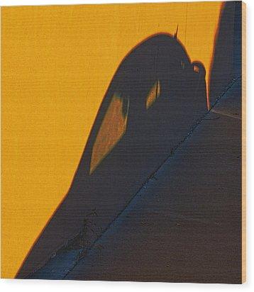 Wood Print featuring the photograph Sunset Shadow Car by John Hansen
