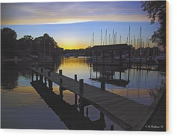 Wood Print featuring the photograph Sunset Silhouette by Brian Wallace