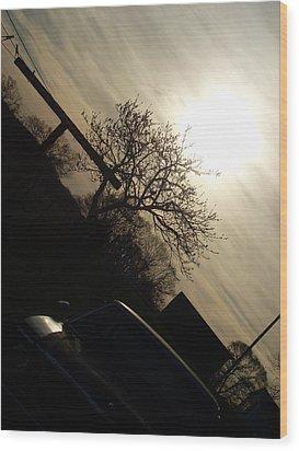 Sunset Silhouette Wood Print by Kiara Reynolds