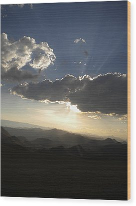 Sunset Skies Over The Andes Wood Print