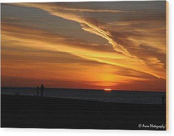 Sunset Sliver Wood Print