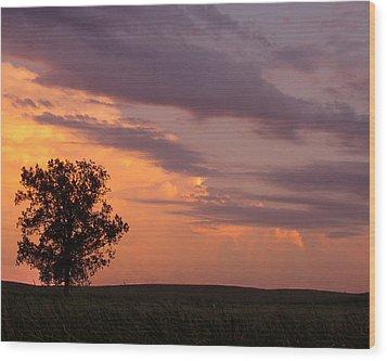 Sunset Sorbet II Wood Print