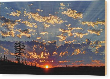 Sunset Spectacle Wood Print