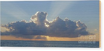 Sunset St. Lucia IIi Wood Print by Nora Boghossian