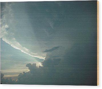 Wood Print featuring the photograph Sunset Supercell by Ed Sweeney