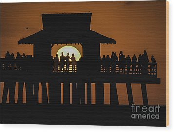 Sunset Supervisors Wood Print