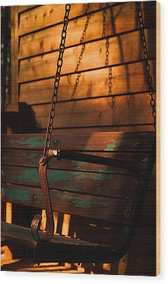 Wood Print featuring the photograph Sunset Swing by Haren Images- Kriss Haren
