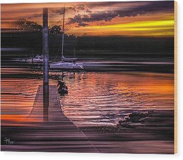 Wood Print featuring the photograph Sunset Swirl by Glenn Feron