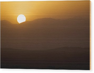 Sunset The Ruby Mountains Wells Nevada Wood Print