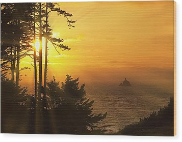 Sunset Thru The Trees Wood Print by Andrew Soundarajan
