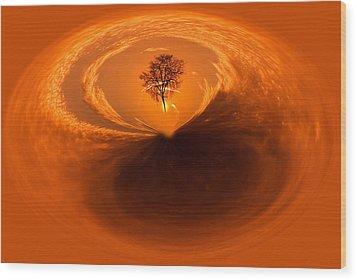 Sunset Tree Artwork Wood Print by Don Johnson