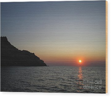Wood Print featuring the photograph Sunset by Vicki Spindler
